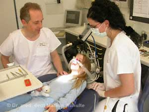 Laughing gas fot the treatment of children